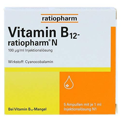 Vitamin B12-ratiopharm N Injektionslösung, 5X1 ml