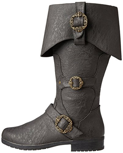Caribbean Pirate Black Costume Boots (Large 12-13)