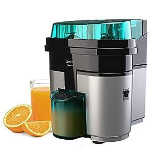 Cecotec Exprimidor Naranjas eléctrico EssentialVita Twice Black. 90 W, Doble Cabezal y Cortador, Filtro para Pulpa, Vaso 500ml, Piezas aptas para lavavajillas