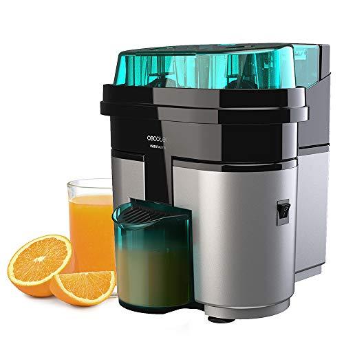 Cecotec Exprimidor Naranjas eléctrico EssentialVita Twice Black. 90 W, Doble Cabezal y...