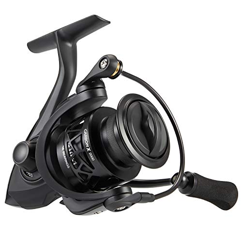 Piscifun Carbon X Spinning Reels - Light to 5.7oz, 6.2:1 High Speed Gear Ratio, Carbon Frame and Rotor, 10+1 Shielded BB, Smooth Powerful Freshwater Spinning Fishing Reel (2000 Series)