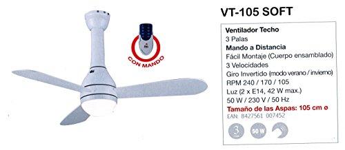 FM plafondventilator afstandsbediening VT105 zacht, wit, 60 x 40 x 30