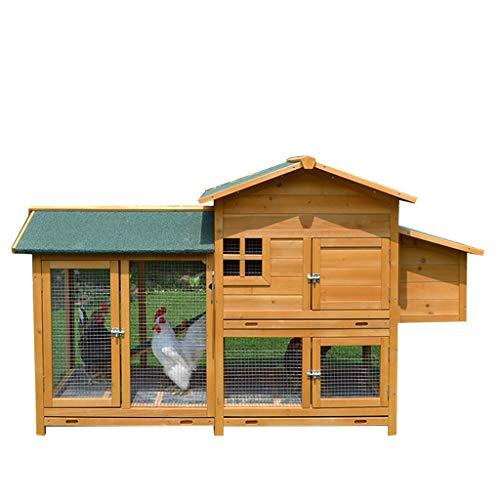 AIOEJP Gallinero extra grande para conejos, conejera con recintos para gatos al...