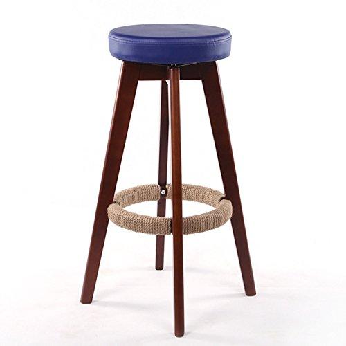CGN Retro Tabouret de bar en bois massif Chaise de bar, tabouret de restaurant circulaire Chaise de café Chaise de caisse Tabouret de salle à manger Chaise de salle à manger Chaise haute Chaise haute Maison de ménage 65-74cm la satisfaction ( Couleur : #5 , taille : 65cm )