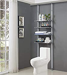 ALLZONE 4 Tier Over Commode Shelving, Over the Toilet Storage Rack Review