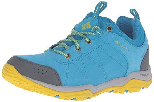 Columbia Fire Venture Low, Chaussures Multisport Outdoor Femme, Bleu (Oxide Blue/Ginkgo 473), 39 EU