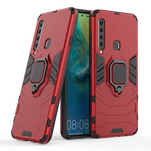 Capa para celular Samsung A9 2018(A9S), em material tpu, com fivela magnética giratória de 360 °,vermelho