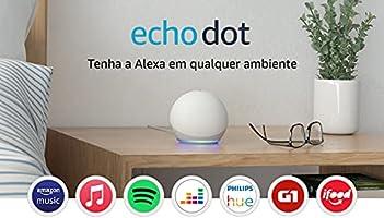 Novo Echo Dot (4ª Geração): Smart Speaker com Alexa - Cor Branca