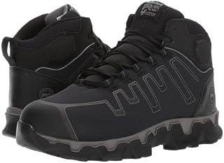 Timberland PRO(ティンバーランド) メンズ 男性用 シューズ 靴 ブーツ 安全靴 ワーカーブーツ Powertrain Sport Mid Alloy Safety Toe EH - Black Ripstop Nylon [並行輸入品]