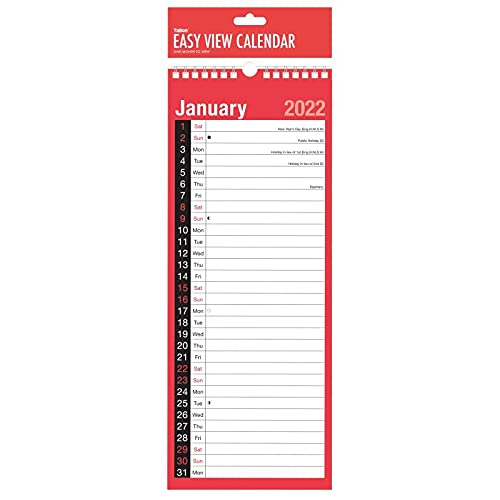 Sketched SUPERSLIM 2022 CALENDAR – One Month To View Slim Easy View Daily Schedule Maker Ideal Routine Home Office Classroom