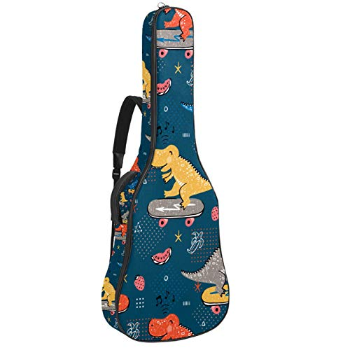 Bolsa Guitarra Electrica patineta de dinosaurio Funda para Guitarra Oxford impermeable Mochila...