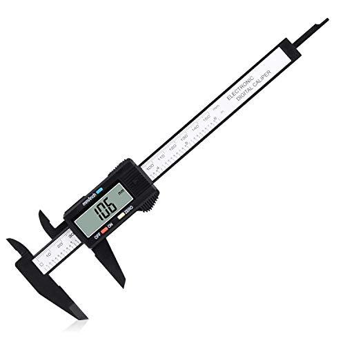 Yofraro Plastic Digital Caliper 6 inch, Electronic Vernier Caliper 0.1mm Resolution, 0.2mm Accuracy Millimeter/Inch Conversion Caliper Measuring Tool Auto off Feature