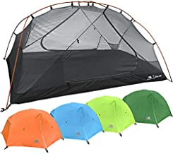 2 Person Backpacking Tent with Footprint - Lightweight Zion Two Man 3 Season Ultralight, Waterproof, Ultra Compact 2p Freestanding Backpack Tents for Camping and Hiking by Hyke & Byke (Orange)