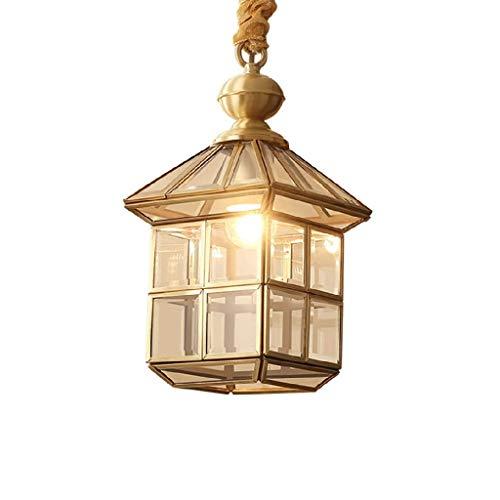 FFLJT Estilo iluminación pendiente moderna de la lámpara, una lámpara de luz de la cocina, pantalla de cristal colgante de luz colgante de interior del accesorio ligero