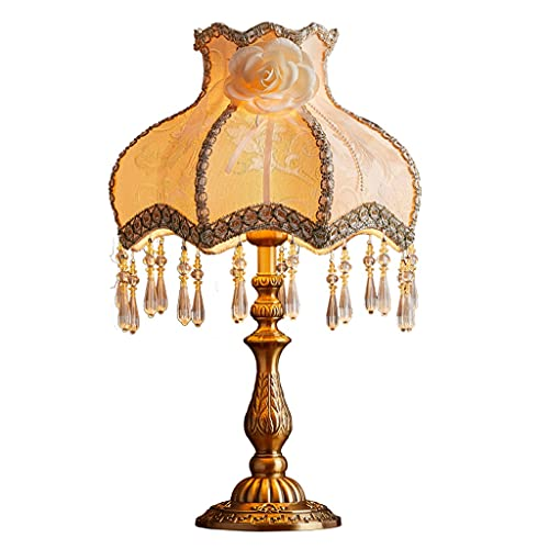Lámpara de Mesa Lámpara de mesa de noche retro europea moderna clásica de mesita de noche lámpara dormitorio sala de estar estudio decorativo mesa lámpara doméstica lámparas Lámpara de Cabecera