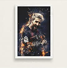 Messi Football Player Super Star Lionel Messi Champion Art Painting Silk Canvas Poster Wall Home Decor 40 * 60Cm No Frame