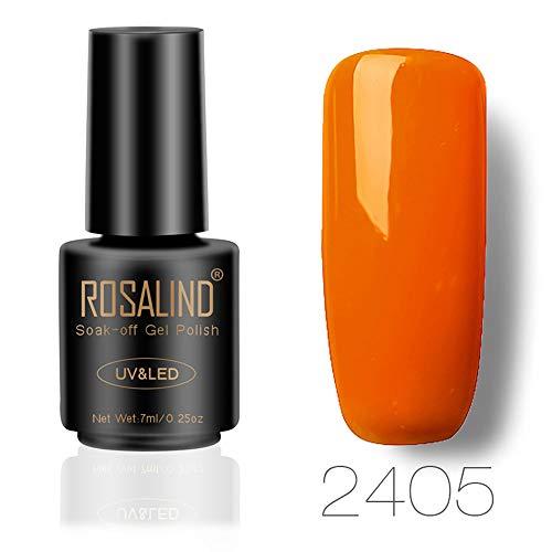 DressLksnf Esmalte de Uñas Moda para Mujer Esmalte Gel Original Elegante Esmalte Permanente Esmalte Endurecedor para Uñas Color Ligero de Serie Naranja