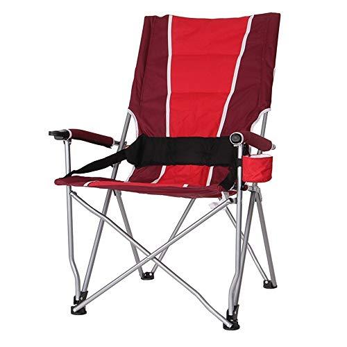 Chaises Chaise pliante Tabouret extérieur portatif Chaise de pêche de loisir avec dossier haut Tables et chaises de plage 3 couleurs en option Tabourets 102 * 55cm (Couleur: BLEU) produit dextérieur