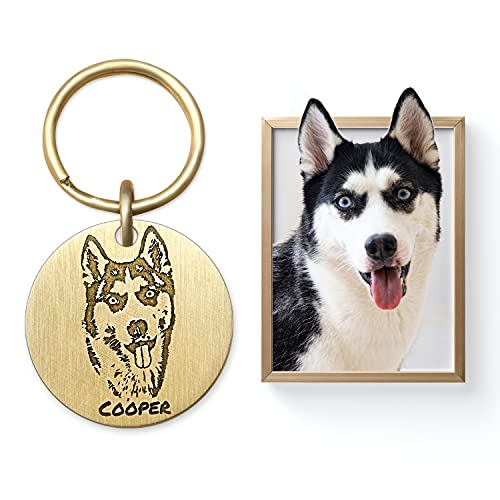 Exquisite and Lifelike Dog Portrait Carving