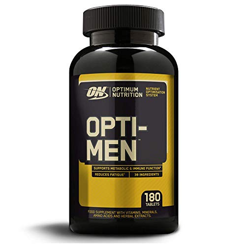 Optimum Nutrition Optimen- Multivitamin und Mineralien Tabletten (mit Vitamin D, Vitamin C, Vitamin B12 & Aminosäuren, Multivitaminen von ON) Unflavoured, 60 Portionen 180 Kapseln
