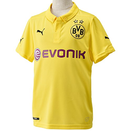 PUMA Kinder Trikot BVB Kids Home Replica Int'l Shirt, Cyber Yellow-Black, 164