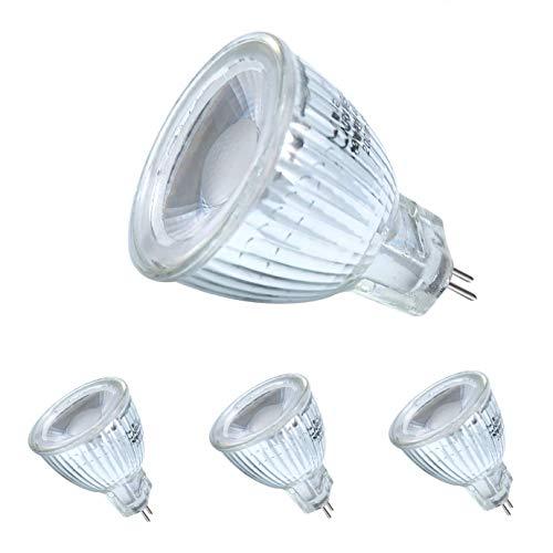 MR11 GU4 LED Lampen 5W AC/DC 12V, MR11 LED Leuchtmittel klein Birne Spot Licht, Äquivalent zu 45-50W Halogenlampen Glühlampen, Warmweiß,400LM,35mm Durchmesser,4er Pack