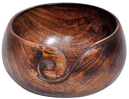 Whopper houten handgemaakte garen houder 6.3