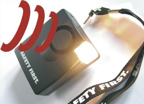 Safety First - Mobile Alarmanlage mit Blitzlicht und extrem lauter Sirene - Ideal zur Sicherung von Handtaschen, Türen, Koffern, Zelten, Wohnmobile und Wohnwagen
