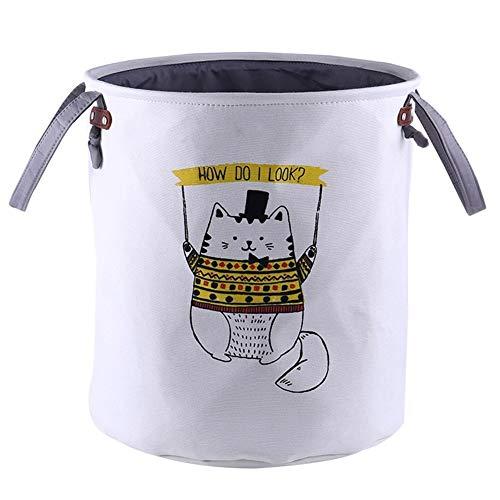 CHUNJIANGSHUI Laundry Baskets Cute Animal Laundry Basket Foldable Storage Picnic Clothes Dirty Basket Cotton Box Wash Baby Clothes Organizer Box 1 Pcs (Color : Garfield)