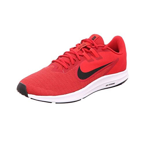 Nike Men's Downshifter 9 Running Shoe, Gym red/Black-University red-White, 12 Regular US