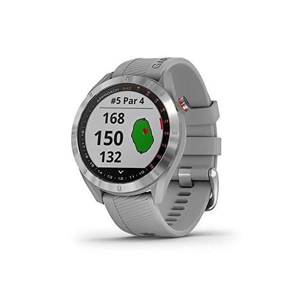 Garmin-Approach-S40-Smartwatch-Golf-GPS-Acier-Silicone-Poudre-Grise-010-02140-00