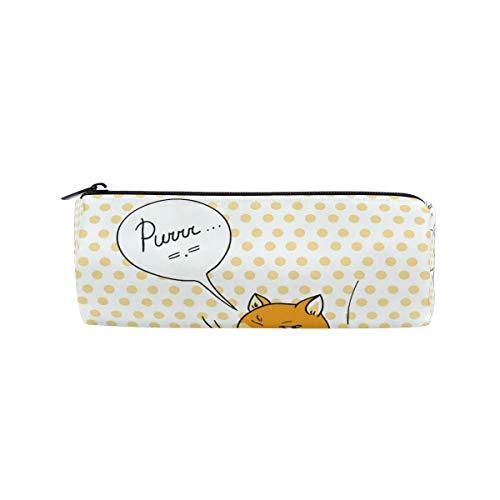 Bonipe Federmäppchen mit lustigem Spionage-Katzen-Design, mit Reißverschluss, für Schule, Schreibwaren, Stifte, Kosmetiktasche, Make-up-Tasche