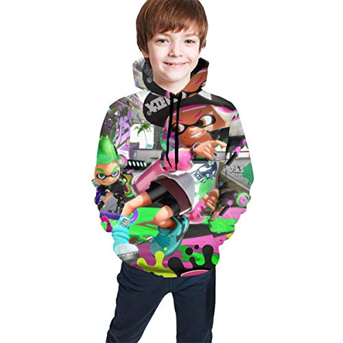 dgfgad Kapuzenpulli Kids Hoodies Youtbe Sp-la-toon Shooter Youth Sweatshirt 3D Print Pullover Clothes Hooded for Boys Girls