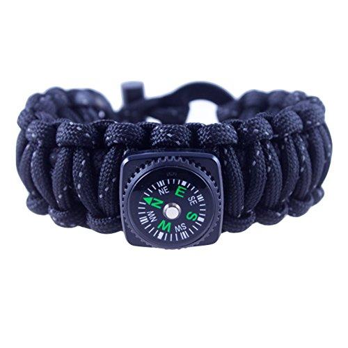 FireCord + Kit di sopravvivenza a scomparsa: tacti-glow Premium Mil-Spec 550Paracord di sopravvivenza del braccialetto (con iuta Esca e pesca linea Core)-by Limitless Equipment