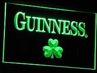 Guinness Shamrock LED看板 ネオンサイン ライト 電飾 広告用標識 W40cm x H30cm グリーン