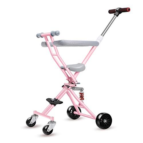 Fantastic Prices! Moolo Kids' Children Car Stroller Artifact, 4-Wheeler Simple Light Folding 1-3 -6 ...