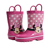 Amazon Essentials Kids' Disney Non-Lighted Rainboots Rain Boot, Pink, 7/8 Medium US Toddler