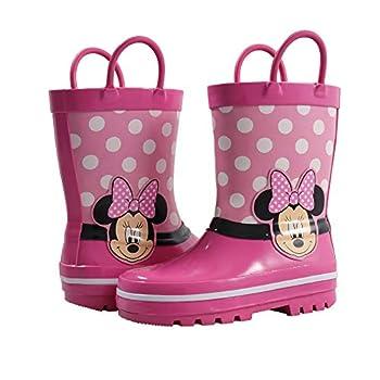 Spotted Zebra Kids  Disney Non-Lighted Rainboots Rain Boot Pink 11/12 Medium US Toddler