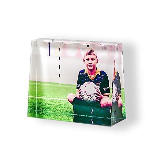 Isonio Glasfoto in Farbe - Ihr eigenes Foto auf echtes Viamant Glas gedruckt - Foto auf Glas als Fotogeschenk (Größe M Querformat 100 x 75 x 30mm)