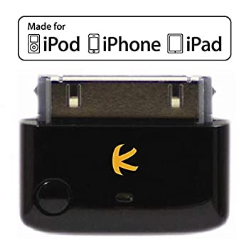 KOKKIA i10  Black    Apple MFi Certified Bluetooth Splitter Transmitter  to 2 Stereo Receivers .Compatible to Apple iPod,iPhone,iPad with 30-pin connector.Compatible streaming to 2 Sets Apple AirPods.