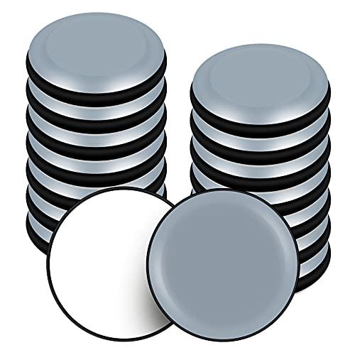 VABNEER Möbelgleiter, 16 Stück PTFE Teflon Runde Selbstklebende Möbelschieber, Möbel Bewegen Pads für Glatte Böden und Teppiche (Runde, 19mm)
