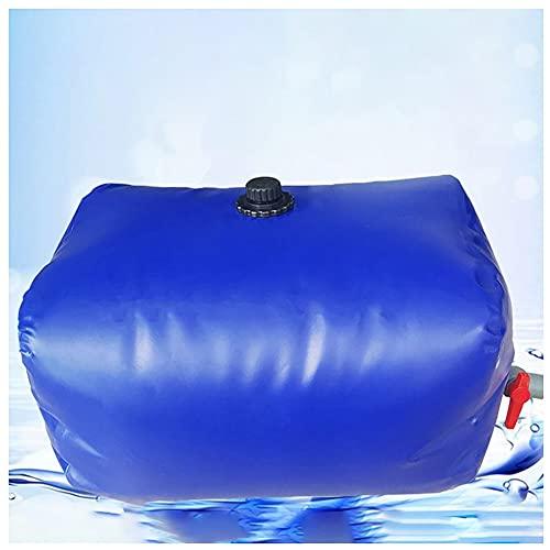 Recipiente de almacenamiento de agua de gran capacidad, Bolsa de almacenamiento de agua portátil de PVC, Anti-UV impermeable Usado para Fuego, agricultura ( Color : Blue , Size : 1080L/1.5x1.2x0.6M )