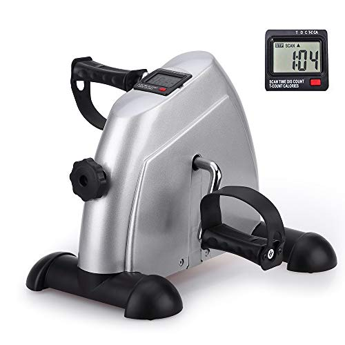 Price comparison product image Portable Exercise Bike,  Under Desk Mini Pedal Exercises Bike Foot Cycle Therapy Leg and Arm Peddler Recovery Medical Machine,  Mini Desk Bike for Office Use