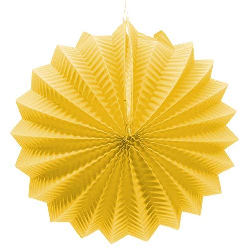 EuroFiestas Farolillo de Papel para decoración de Feria con Gancho Color Amarillo