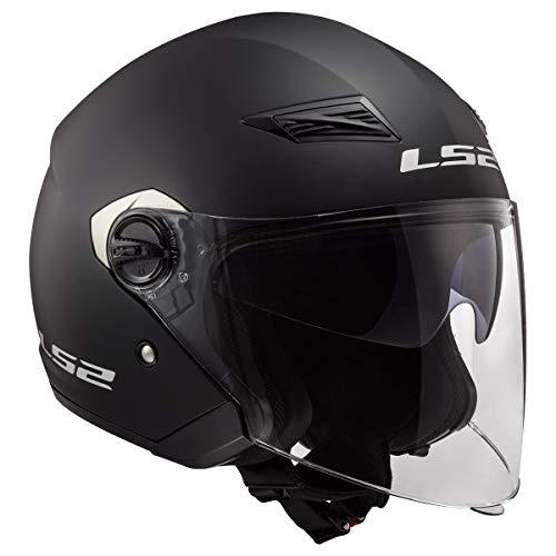 LS2 Helmets Track Solid Open Face Motorcycle Helmet