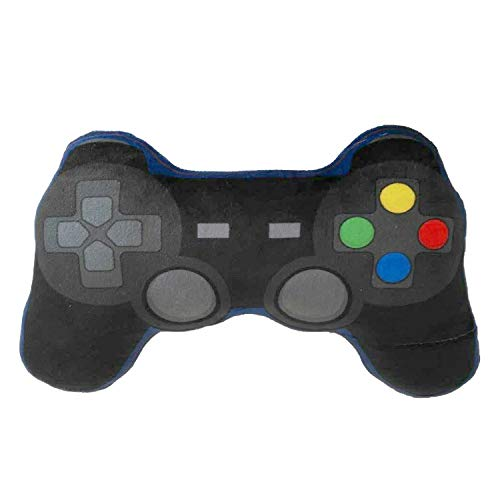 Game Over Gamecontroller Kissen schwarz/blau, Bestickt, 100% Polyester, in Polybeutel.
