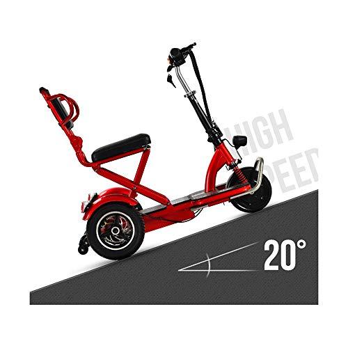 Ashey Elektro-Dreirad Mobility Scooter Für Erwachsene Faltbar, Behinderte Elders Tragbares Elektro-Rollstuhl DREI Räder Elektro-Trikes Last 120Kg