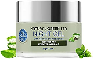 The Moms Co. Natural Green Tea Night Gel l Light Weight l Hydrating l Controls Sebum l Fights Acne l Soothing & Calming l ...
