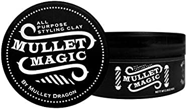 Mullet Magic Hair Paste Product Styling Clay for Men and Women Strong Matte Hold Pomade Gel Wax Cream made with Natural and Organic Ingredients
