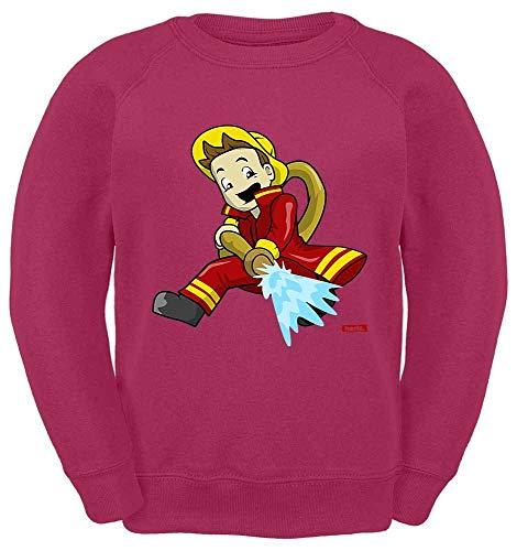 Hariz - Suéter para niños, bombero, manguera de borrado, trabajo y tarjeta de regalo rosa 12 años